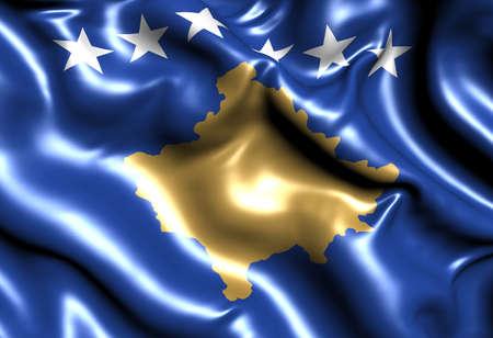 Flag of Kosovo. Close up.  photo