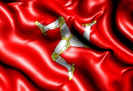man close up: Flag of Man. Close up.