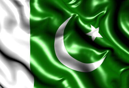 flag of pakistan: Flag of Pakistan. Close up.