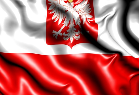 polish: Flag of Poland. Close up.
