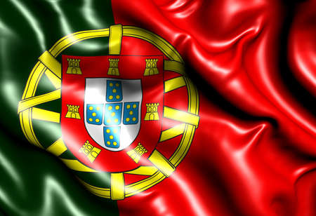 Flag of Portugal. Close up.  photo