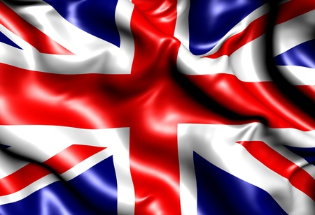 Flag of UK. Close up.