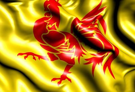 walloon: Flag of Wallonia. Close up.