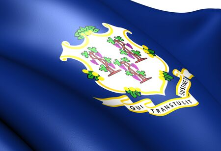 Flag of Connecticut, USA. Close up.  photo