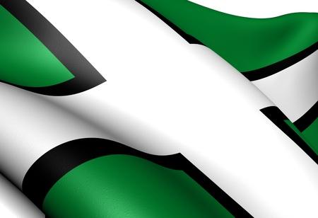 devon: Flag of Devon. Close up.