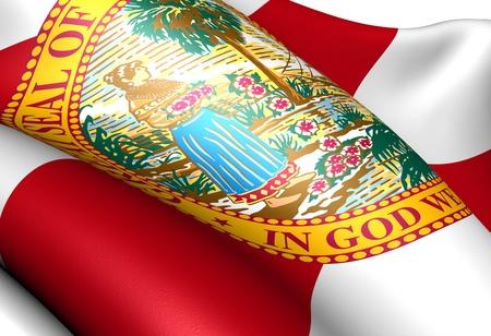 Flag of Florida, USA. Close up.