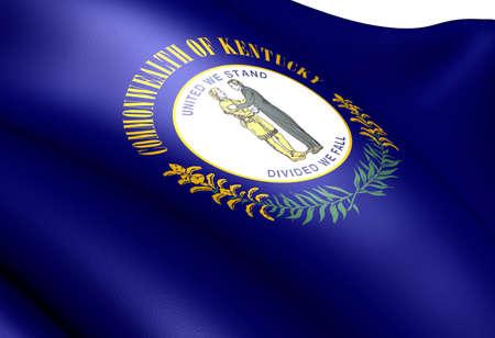 Flag of Kentucky, USA. Close up.  photo