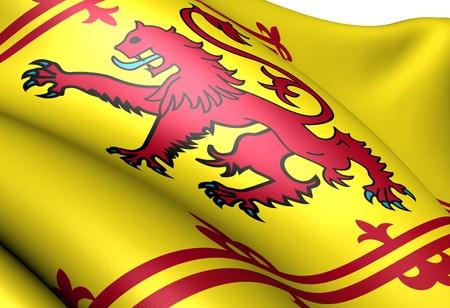Royal Standard of Scotland. Close up.