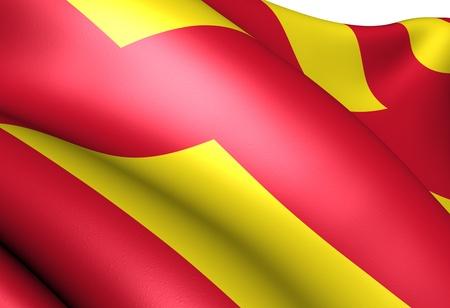 Flag of Northumberland. Close up.  photo