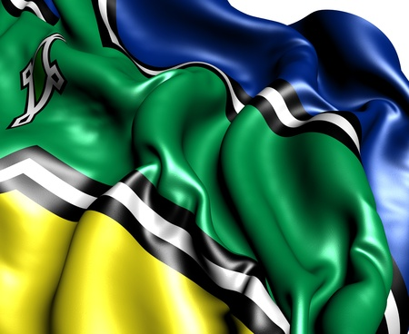 Flag of Amapa. Close up. photo