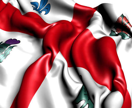 montreal: Flag of Montreal. Close up.