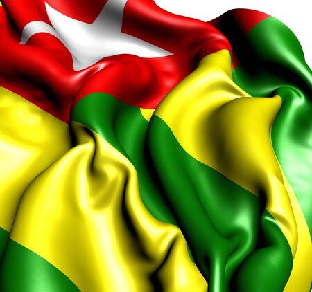 togo: Flag of Togo. Close up.