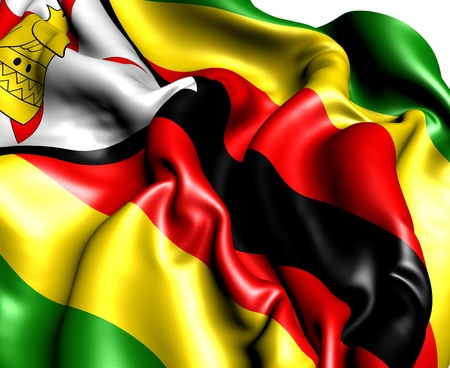 Flag of Zimbabwe. Close up.  Stock Photo - 9873121