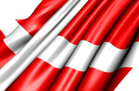 Flag of Denmark against white background. Close up.  Stock Photo - 9918295