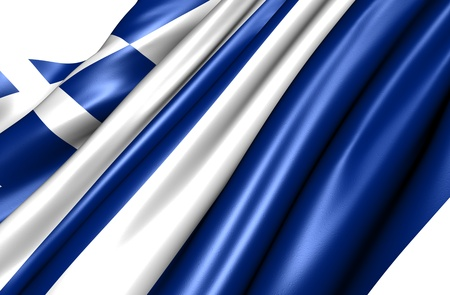 Flag of Greece against white background. Close up.  photo