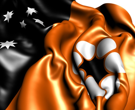 territory: Flag of Northern Territory, Australia. Close up.  Stock Photo