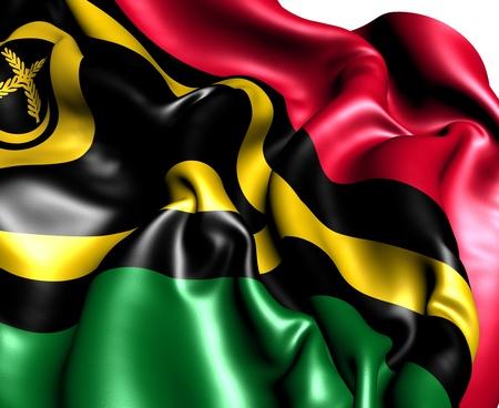 vanuatu: Flag of Vanuatu. Close up.