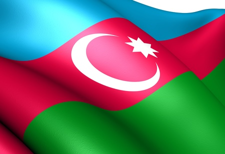 azerbaijanian: Flag of Azerbaijan. Close up.  Stock Photo