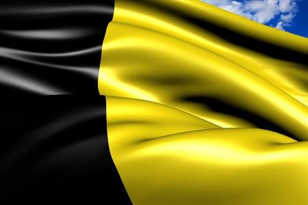 Flag of Sneek. Close up. Stock Photo - 10206656