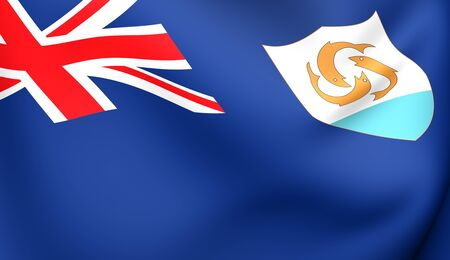 anguilla: Flag of Anguilla. Close up.