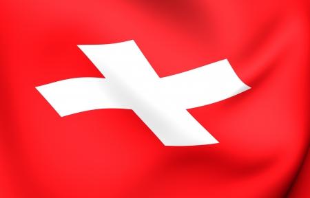 Flag of Switzerland. Close up.  photo