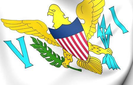 virgin islands: Virgin Islands of the United States flag. Close up.  Stock Photo