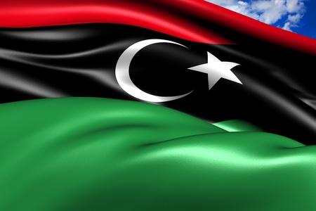 libyan: Flag of Libya  Stock Photo
