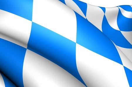 Flag of Bavaria, Germany. Close up.  photo