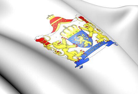 europe closeup: Netherlands coat of arms. Close up.