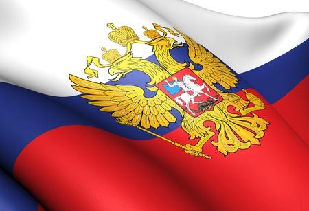 Flag of Russia. Close up. Zdjęcie Seryjne - 10671426