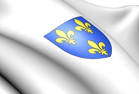 blason: Isle de France coat of arms, France. Close up.