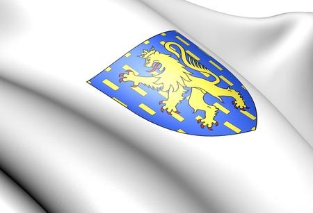 blason: Franche-Comte coat of arms, France. Close up.