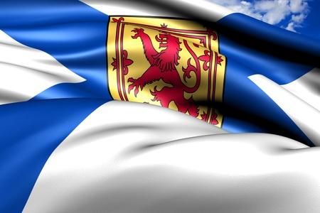 scotia: Flag of Nova Scotia. Close up. Stock Photo