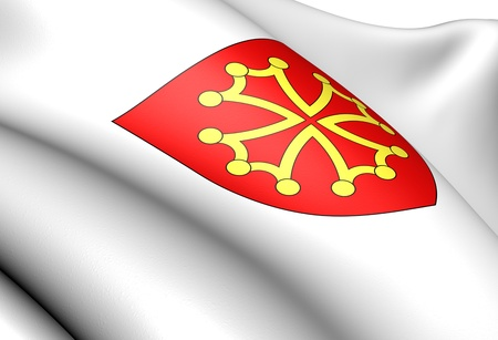 blason: Languedoc  coat of arms, France. Close up.    Stock Photo