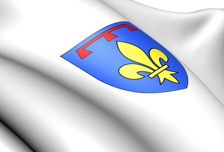blason: Coat of Arms of the Counts of Provence of the House of Valois-Anjou, France. Close up.    Stock Photo