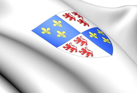 blason: Picardy  coat of arms, France. Close up.