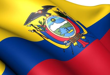 ecuadorian: Flag of Ecuador. Close up.