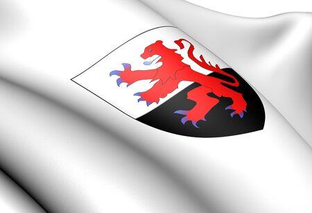 blason: Poitou-Charentes coat of arms, France. Close up.
