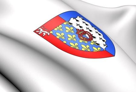 blason: Pays de la Loire coat of arms, France. Close up.    Stock Photo