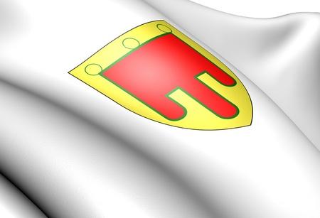 blason: Auvergne coat of arms, France. Close up.