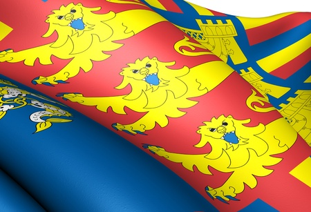 warden: Flag of Lord Warden of the Cinque Ports. Close up.