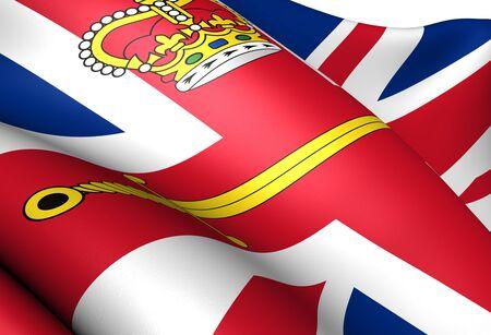 luitenant: Vlag van de Britse Lord Lieutenant. Close-up.