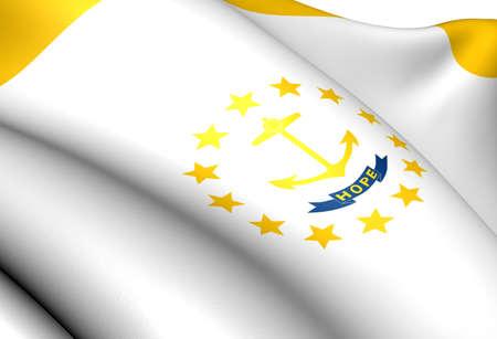 Flag of Rhode Island. Close up.    photo
