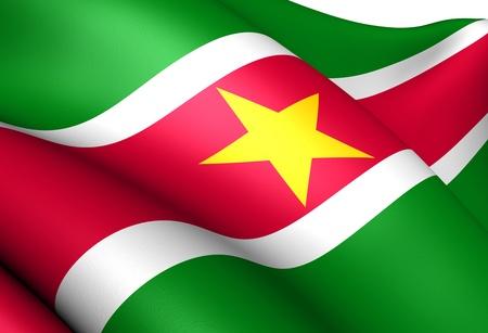 Flag of Suriname. Close up.