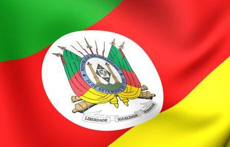 Flag of Rio Grande do Sul. Close up. photo