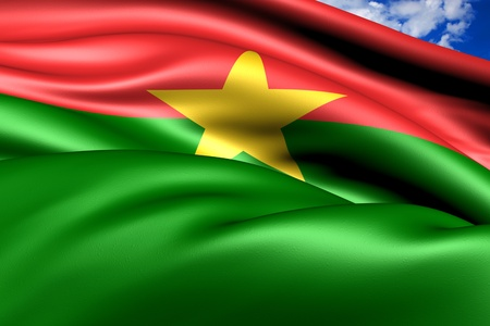 burkina faso: Flag of Burkina Faso. Close up.  Stock Photo