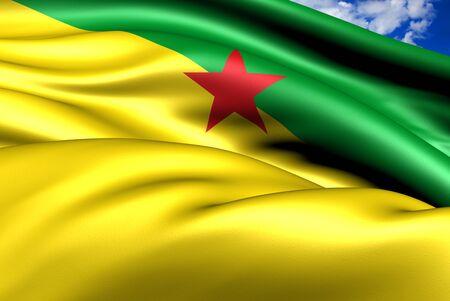 Bandera de la Guayana Francesa. Close up. Foto de archivo - 10974964