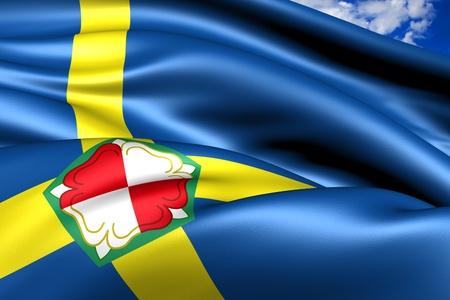 pembrokeshire: Flag of Pembrokeshire, Wales. Close up.