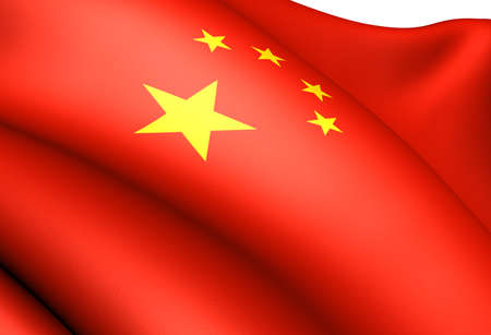 Flag of China. Close up.  Stock Photo