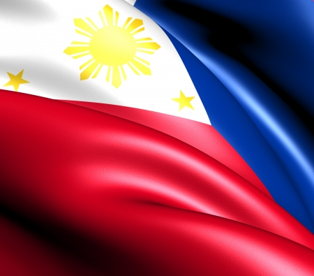 philippines: Flag of Philippines. Close up.    Stock Photo